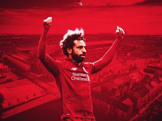 Mohamed Salah 4K wallpaper