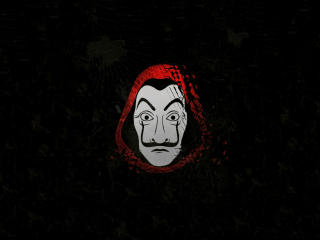 Money Heist Mask wallpaper