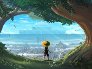 Monkey D Luffy One Piece Art wallpaper