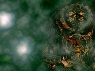 monster, mouth, fangs wallpaper