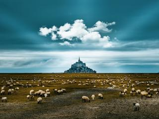 Mont Saint-Michel Landscape wallpaper