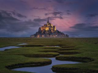 Mont Saint Michel Monastery wallpaper