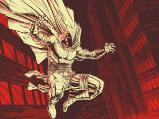 Moon Knight Marvel Comic Art wallpaper