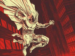 Moon Knight Marvel Comic Art wallpaper