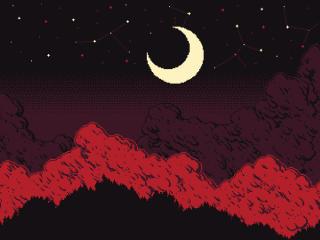 Moon Night PixelArt wallpaper
