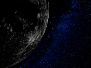 Moon To Earth 4K Art wallpaper