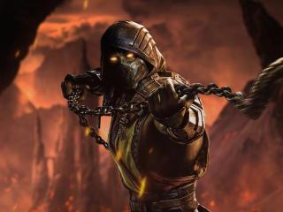 Mortal Kombat Scorpion Cool Art wallpaper