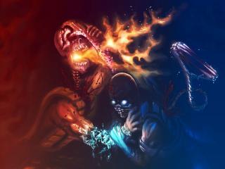 mortal kombat, scorpion, sub zero wallpaper