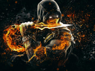 Mortal Kombat X Scorpion Art wallpaper