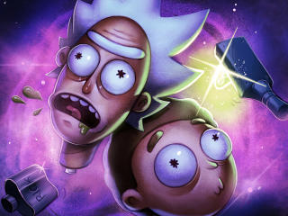 Morty Smith and Rick Sanchez FanArt wallpaper