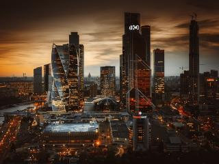 Moscow Russia Skyscrapers wallpaper