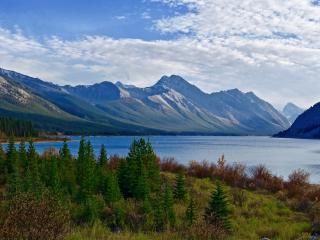 mountain, lake, mountain landscape wallpaper
