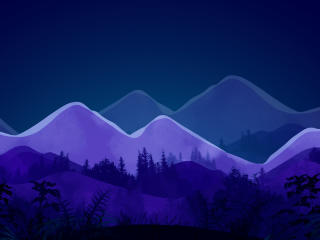 Mountain Minimalist Night wallpaper