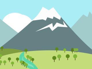 mountain, peak, snow wallpaper