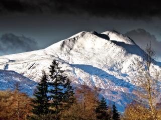 mountain, peaks, slopes wallpaper