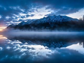 Mountain Reflection on Lake Side wallpaper