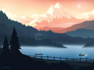 Mountain Retreat wallpaper