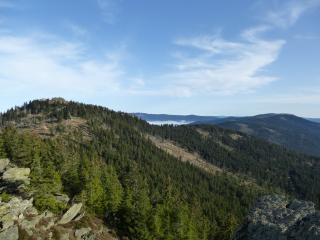 mountain, view, top view wallpaper