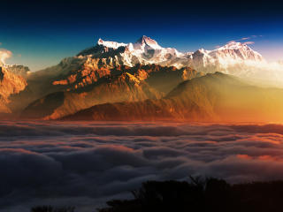 Mountains In Clouds wallpaper