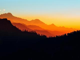 Mountains Silhouette wallpaper