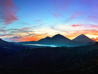 mountains, sky, bali wallpaper