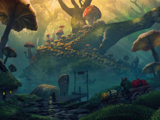 Mouse Mushroom Kingdom wallpaper