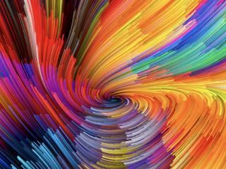 Multi Color Spiral wallpaper