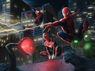 Multiple Spider-Man No Way Home wallpaper