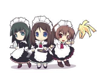 murakami suigun, girls, maids wallpaper