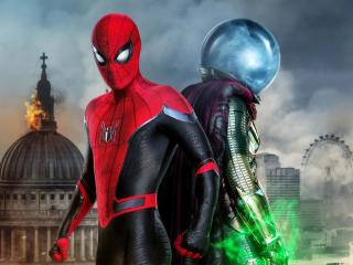 Mysterio and Spiderman wallpaper