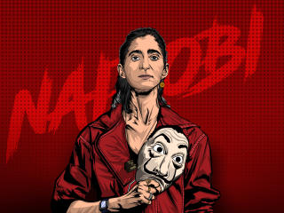 Nairobi Money Heist Illustration wallpaper