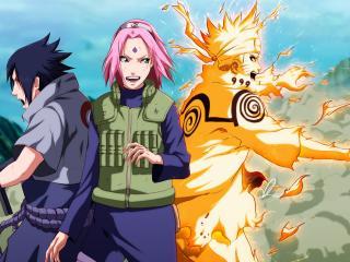 naruto, uzumaki naruto, uchiha sasuke wallpaper