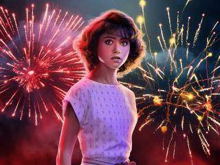 HD Wallpaper | Background Image Natalia Dyer Stranger Things Fireworks Poster