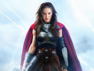 Natalie Portman As Lady Thor FanArt wallpaper