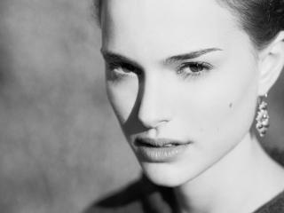 natalie portman,  face,  look wallpaper