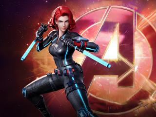 Natasha Romanoff as Black Widow in Marvel Super War wallpaper