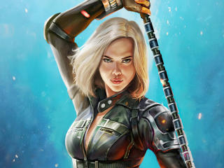 Natasha Romanoff Black Widow Art wallpaper