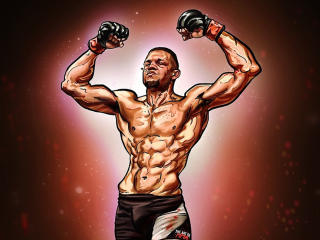 Nate Diaz Art wallpaper