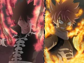 Natsu Dragneel and Zeref Dragneel wallpaper
