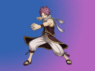 Natsu Dragneel In Fairy Tail Game wallpaper