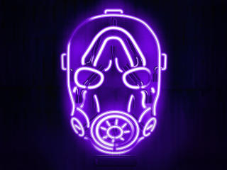 Neon Borderlands Mask wallpaper