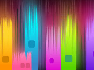 Neon Gradient Glowing Shapes wallpaper