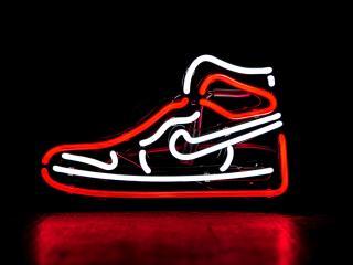 Neon Jordan Retro Shoe wallpaper
