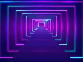 Neon Optical Illusion 5k wallpaper
