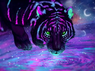 Neon Tiger wallpaper
