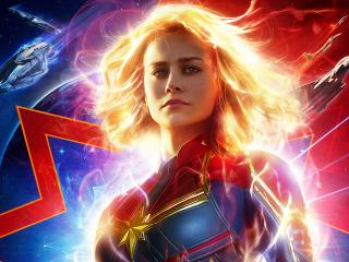 New Captain Marvel 2019 Movie Poster wallpaper