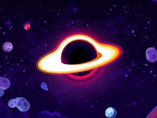 New Kurzgesagt Black Hole Art Minimalist wallpaper