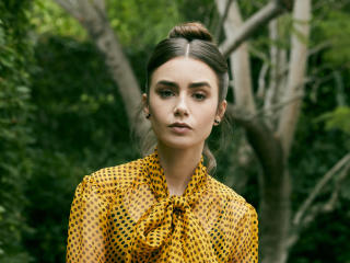 New Lily Collins 2020 wallpaper