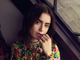 New Lily Collins 2021 wallpaper