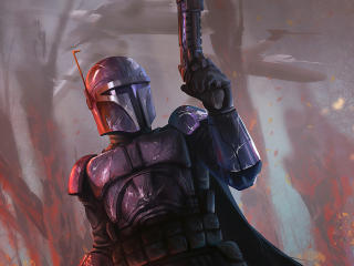 New Mandalorian Art wallpaper